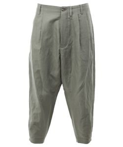 08Sircus | Cropped Loose-Fit Trousers Mens Size 4 Linen/Flax/Nylon