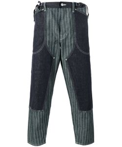Ganryu Comme Des Garcons | Striped Laye Loose-Fit Trousers Mens Size Small