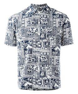 Salvatore Piccolo | Printed Shorsleeved Shirt Mens Size 39 Cotton/Rayon