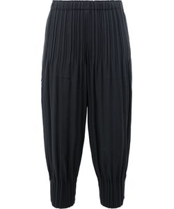 Pleats Please By Issey Miyake | Gathe Cuffs Cropped Trousers Womens Size