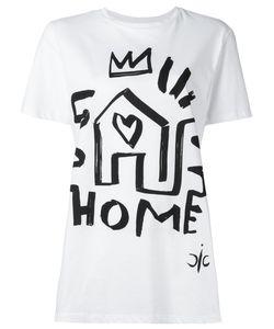 Iceberg | Home Heart Print T-Shirt Womens Size 38 Cotton