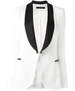 Elie Saab | Contrast Blazer Womens Size 40 Acetate/Rayon/Cupro/Polyester