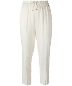 Twin-Set | Drawstring Cropped Pants Womens Size 44 Viscose/Spandex/Elastane
