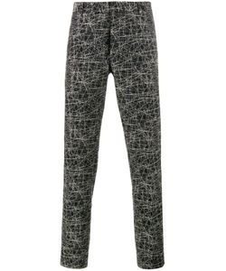 Dior Homme   Scribble Print Trousers Mens Size 48 Cotton/Viscose
