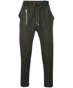 Les Hommes | Zip Detail Drawstring Trousers Mens Size 46 Cotton/Spandex/Elastane/Polyester