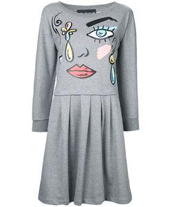 Boutique Moschino | Cartoon Face Print Dress Womens Size 42 Cotton