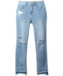 Steve J & Yoni P | Distressed Cropped Jeans Womens Size Small