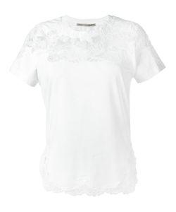 Ermanno Scervino | Lace Detailing T-Shirt Womens Size 38 Cotton/Spandex/Elastane