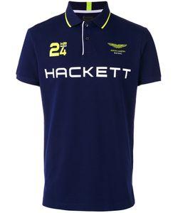 Hackett | Logo Print Polo Shirt Mens Size Large Cotton/Spandex/Elastane
