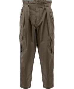 Juun.J | Belted Loose-Fit Trousers Mens Size 48 Cotton