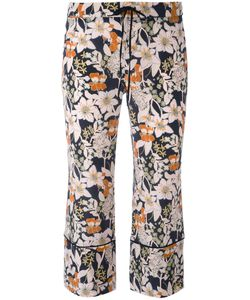 L'Autre Chose | 3/4 Length Print Trousers Womens Size 44 Silk