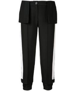 Vera Wang | Cropped Peplum Trousers Womens Size 4 Nylon/Wool/Cotton/Silk