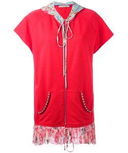 Amen | Laye Shortsleeved Hoodie Womens Size 38 Cotton/Silk/Metal/Glass