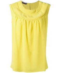 Rochas | Round Neck Shift Blouse Womens Size 40 Silk