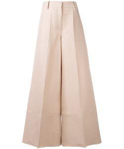 Valentino | Wide Legged Trousers Womens Size 44 Silk/Lyocell/Spandex/Elastane