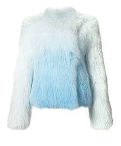 Yves Salomon | Ombre Fox Fur Jacket Womens Size 38 Fox