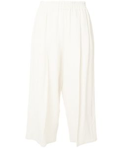 Dusan   Cropped Linen Trousers Size Medium Linen/Flax