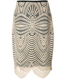 Nicole Miller   Scalloped Hem Skirt Womens Size 4 Polyester