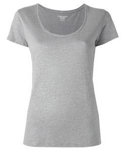 Majestic Filatures | Plain T-Shirt Womens Size I Linen/Flax/Silk