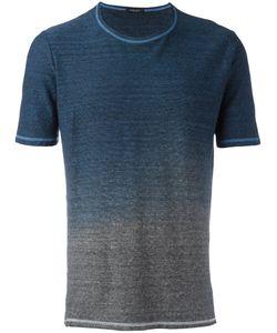 Roberto Collina | Gradient T-Shirt Mens Size 50 Cotton/Linen/Flax