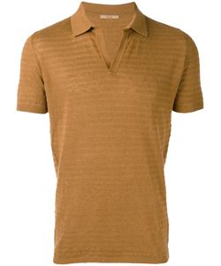 Nuur | Knitted Polo Shirt Mens Size 48 Cotton/Linen/Flax