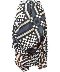 Vivienne Westwood | Draped Printed Skirt Womens Size 42 Cotton
