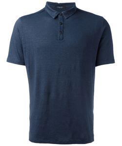 Roberto Collina | Plain Polo Shirt Mens Size 50 Linen/Flax/Spandex/Elastane