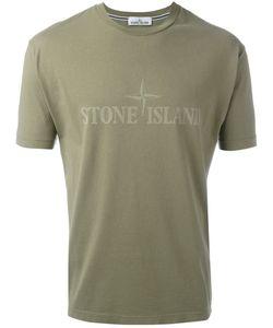 Stone Island   Logo Print T-Shirt Mens Size Small Cotton