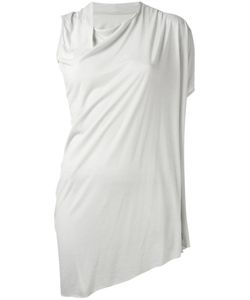 Rick Owens Lilies | Asymmetric Draped T-Shirt Womens Size 38 Viscose/Cotton/Polyamide