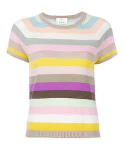 Allude | Striped Shortsleeved Jumper Womens Size Small Cashmere