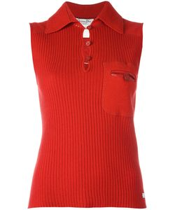 Christian Dior Vintage | Sleeveless Ribbed Top Womens Size 40