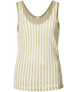 Adam Lippes | Stripe Knit Tank Top Womens Size Medium Cotton