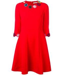 Mary Katrantzou | Cooper Embroide Dress Womens Size 10 Wool/Silk/Cotton
