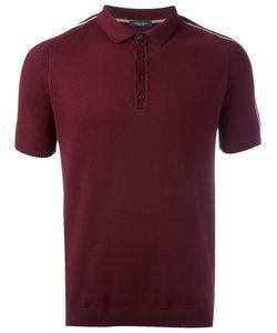 Roberto Collina | Striped Sleeves Polo Shirt Mens Size 48 Cotton