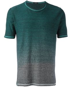 Roberto Collina | Gradient T-Shirt Mens Size 48 Cotton/Linen/Flax
