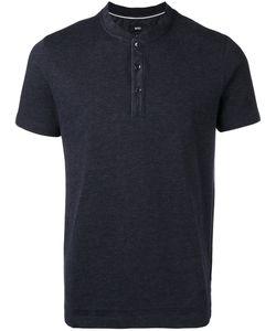 Boss Hugo Boss | Collarless Polo Shirt Mens Size Medium Cotton/Polyester