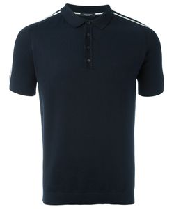 Roberto Collina | Striped Sleeve Polo Shirt Mens Size 50 Cotton