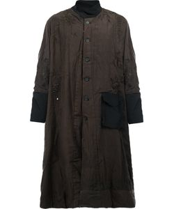 By Walid | Embroidery High-Neck Coat Mens Size Medium Silk