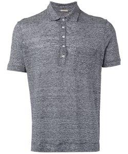 Massimo Alba   Fleck Button Up Polo Shirt Mens Size Xl