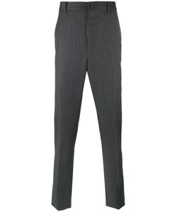Lanvin | Top Stitched Striped Trousers Mens Size 50 Wool