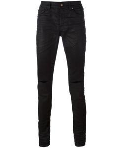 Saint Laurent | Distressed Jeans Mens Size 33 Cotton/Spandex/Elastane