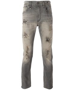 R13 | Ripped Slim-Fit Jeans Mens Size 33 Cotton/Spandex/Elastane