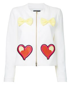 Boutique Moschino | Embroide Hearts Bow Applique Jacket Womens Size 44