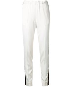 08Sircus | Contrast Track Pants Womens Size 36 Rayon/Triacetate/Polyurethane