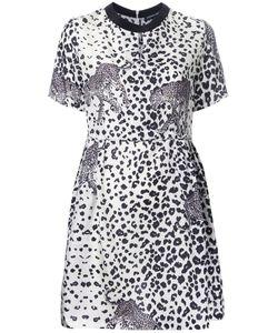 Markus Lupfer | Leopard Print Dress Womens Size Medium Silk