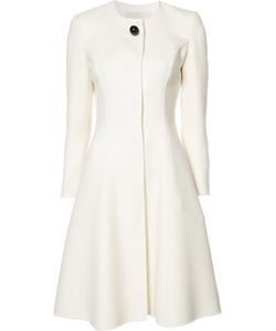Carolina Herrera   Fla Mid Coat Womens Size 12 Silk/Virgin Wool