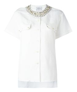 Forte Couture | Studded Collar Shirt Womens Size Large Cotton