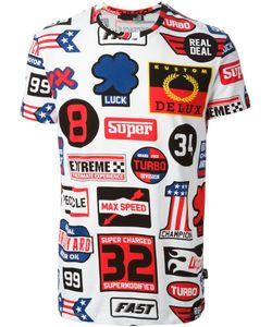 Love Moschino   Racing Print T-Shirt Mens Size Xs Cotton