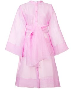 Rodebjer   Chiffon Tie-Waist Kimono Womens Size Xs Silk/Polyimide