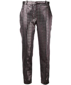Carven | Stripes Cropped Trousers Womens Size 38 Polyester/Acetate/Viscose